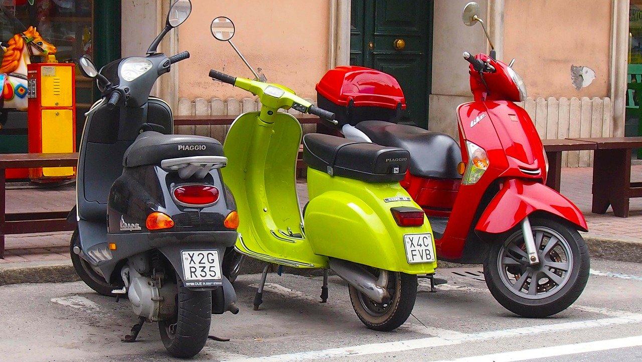 scooter, motor-bike, vespa